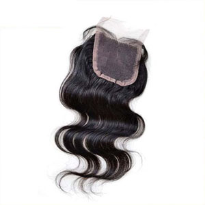 "10""-20"" Virgin Brazilian Hair Body Wave Top Lace Closure(4""*4"") Free Style Natural Color"
