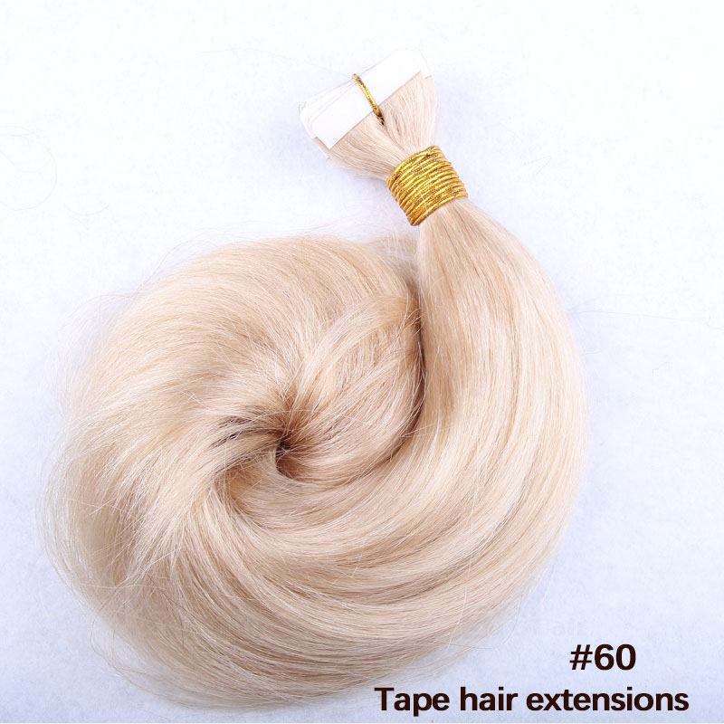 White Blonde Hair Extensions 39