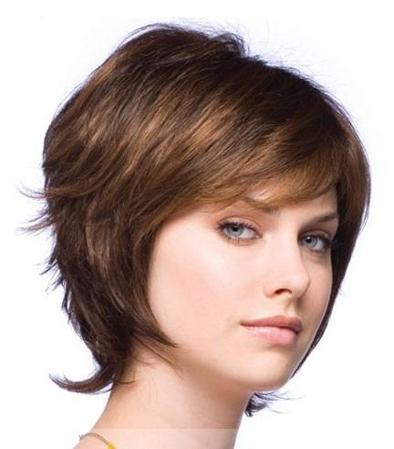 short curly 100 human brown hair wig short hairstyle 2013