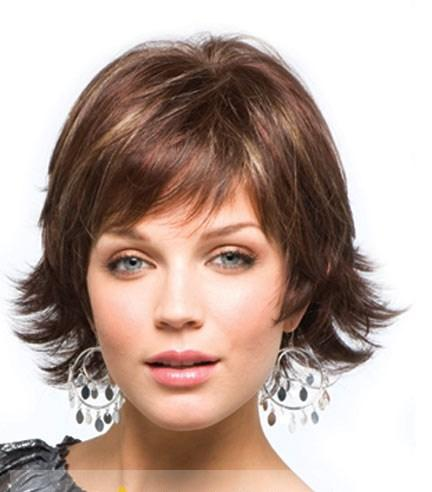100% Human Hair Curly Brown Short Wigs 8 Inch Capless - Hairplusbase