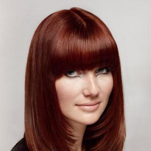 100% Human Hair Red Long Wigs 18 Inch Capless Straight