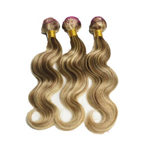 "12"" - 34"" Brazilian Remy Hair Body Wave #8/613 Hair Wefts across Head Sets"