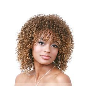 12 Inch 2014 Vogue Trend Short Curly Blonde African American Lace Wigs for Women