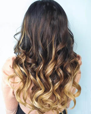 16 Inch Harmonious Ombre Clip In Remy Human Hair Extensions Three Tone Body Wave 9pcs
