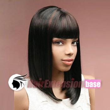 hair wigs 1 jet black no 1 16 inch straight long african american hair ...