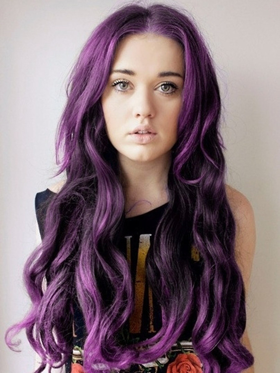 Purple Desire Hair Extensions 18 Inch 81