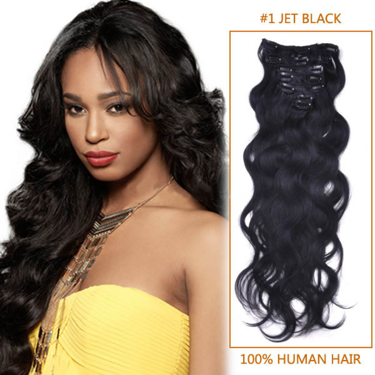 Wavey Human Hair Clip In Extension 89