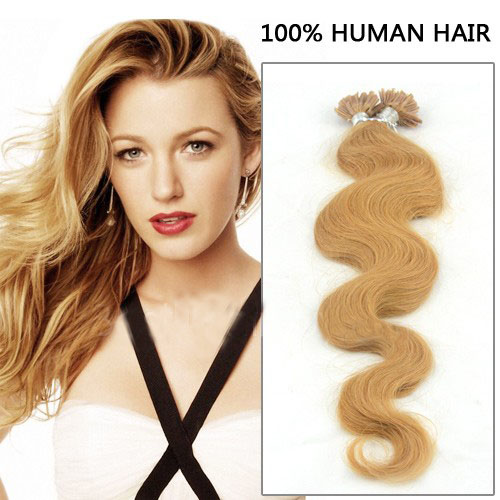I Tip Human Hair Extensions Wavy 33