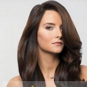 ... Long Wavy Sepia African American Full Lace Wigs | Dark Brown Hairs