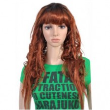 22 Inch Curly Long Synthetic Hair Wigs #28 Light Auburn