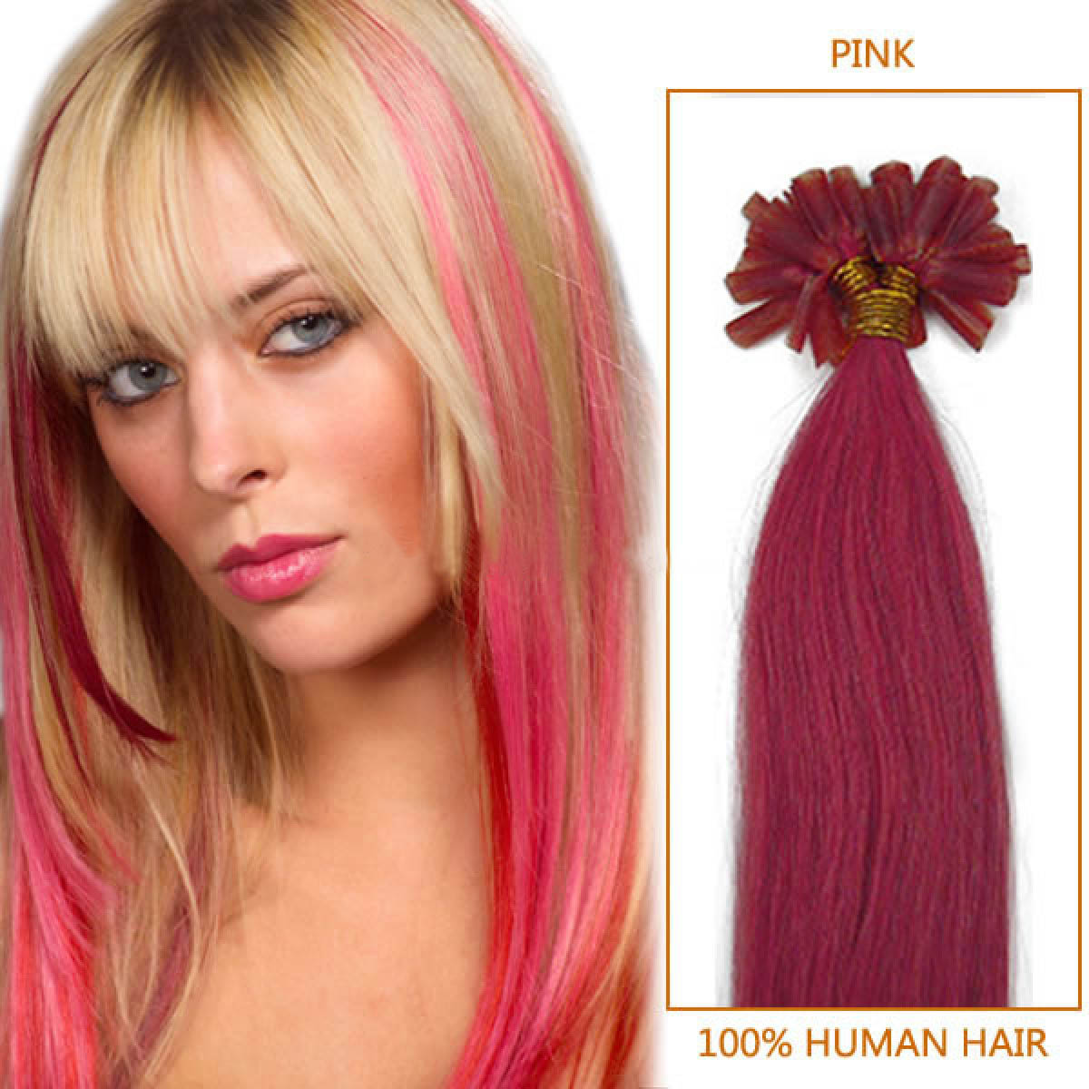 Blonde Extensions With Pink Tips 2