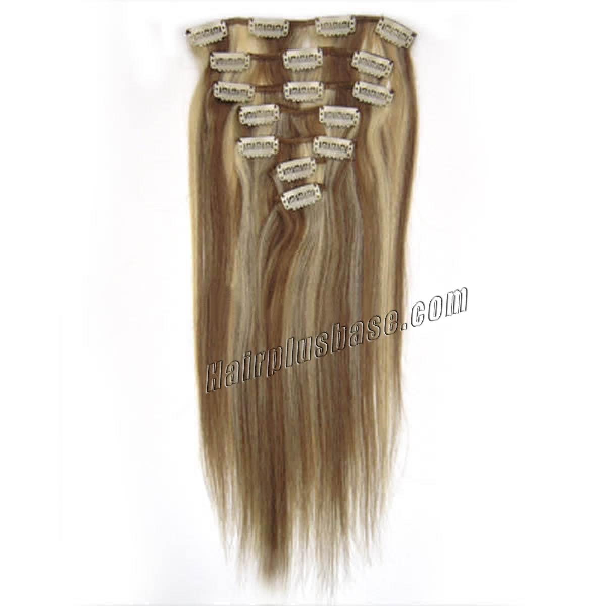 24 Clip In Human Hair Extensions 59