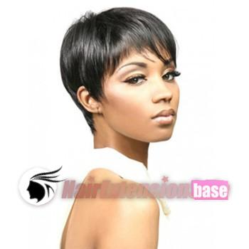 ... wigs 1 jet black no 3 3 inch straight short african american hair wigs
