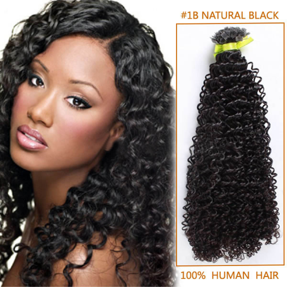 30 Inch #1b Natural Black Afro Curl Indian Remy Hair Wefts ...