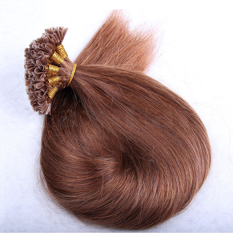 6 - 30 Inch #30 Straight  Nail U Tip Remy Human Hair Extensions 100s
