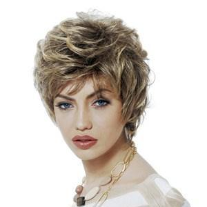 Inch Fancy Short Curly Gray Side Bang African American Lace Wigs for ...