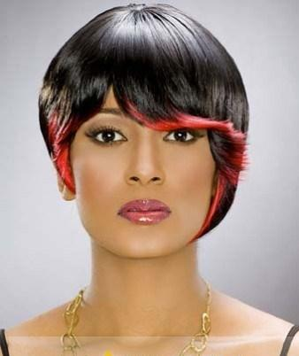 Inch Simple Short Wavy Black African American Wigs for Women