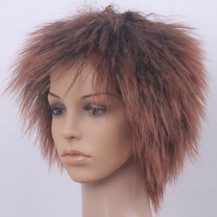 8 Inch Straight Short Synthetic Hair Wigs #4 Medium Brown