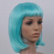 8 Inch Straight Short Synthetic Hair Wigs Blue