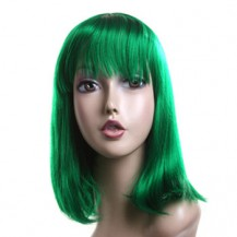 8 Inch Straight Short Synthetic Hair Wigs Green