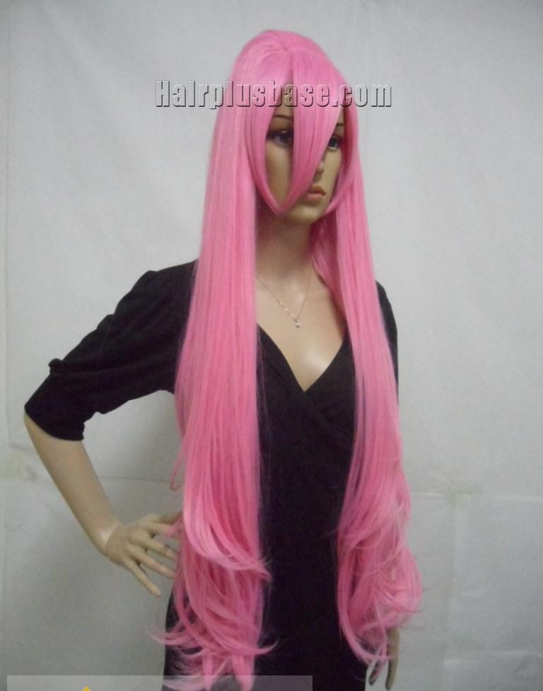 Afro American Capless Long Synthetic Hair Pink Wavy