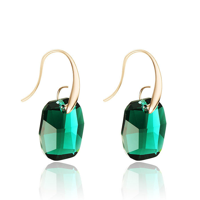 Austria Crystal Gold Plated Dangle Drop Earrings For Women no 1