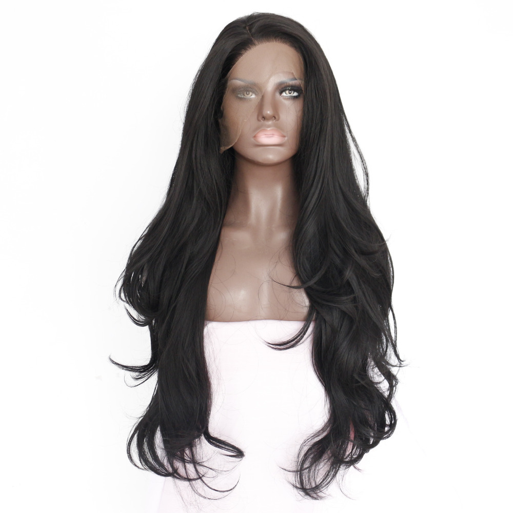 Black Body Wave Synthetic Lace Front Wig