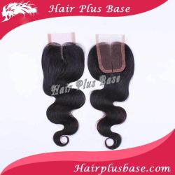 "Brazilian Remy Hair Middle Part Lace Top Closure Swiss Lace 4""*4"" Body Wavy Shedding And Tangle Free"