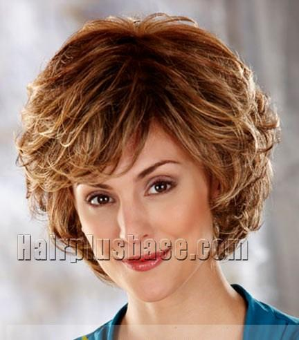 Custom Super Charming Short Wavy Red 8 Inch Synthetic Hair Wigs no 2