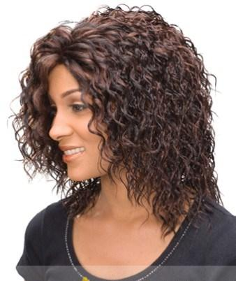 Cute Short Curly Brown African American Lace Wigs for Women ...