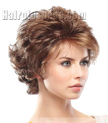 European Style Short Wavy Gray 10 Inch Synthetic Hair Wigs no 2