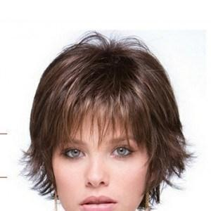 Glittered Deliberately Choppy Wispy Texture Human Hair Wig