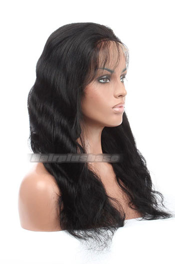18 Inch Malaysian Virgin Hair Body Wave Glueless Lace Front Wigs
