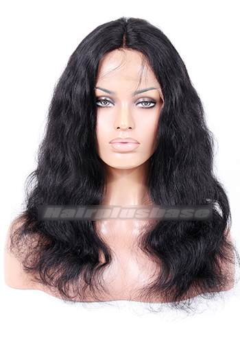 Natural Wave Natural Looking Indian Remy Hair Middle Part Glueless Lace Part Lace Wigs