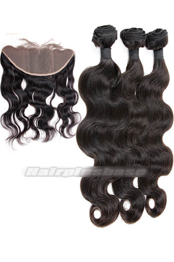 Body Wave Indian Virgin Hair A Lace Frontal With 3 Bundles Deal
