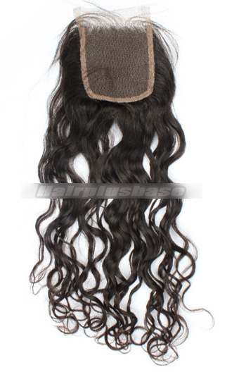 Loose Curl Indian Virgin Hair Lace Closure 4*4 Inches