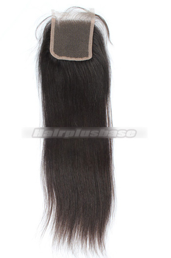 Silky Straight Indian Virgin Hair Lace Closure 4*4 Inches