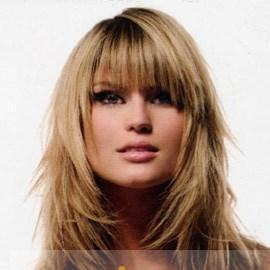 Ingenious Medium Blonde Celebrity Hairstyle 100% Human Hair For Women