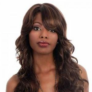 Long Layered With Side Swept Bangs Remy Human Hair Wig