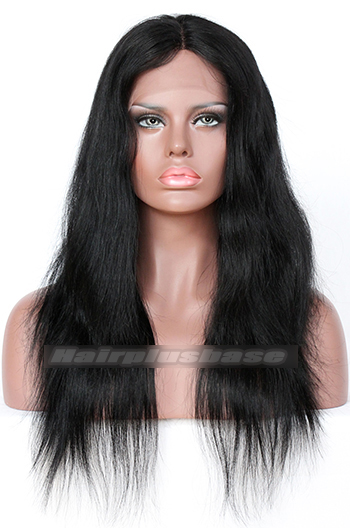 Natural Straight Indian Remy Hair Middle Part Natural Looking Glueless Lace Part Lace Wigs