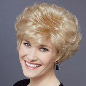 New Style Short Wavy Capless Tousled Human Hair Wig 111