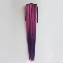 Ombre Colorful Ponytail Straight 09# Rosy/Purple 1 Piece