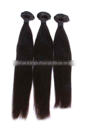 10-30 Inch 3 Bundles Natural Color Silky Straight Peruvian Virgin Hair Wefts