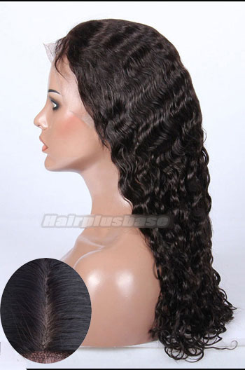 Indian Remy Hair Brazilian Curl Silk Top Glueless Lace Front Wigs