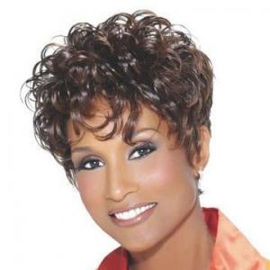 Special Cool Short Sepia 100% Indian Remy Hair Wigs for Black Women