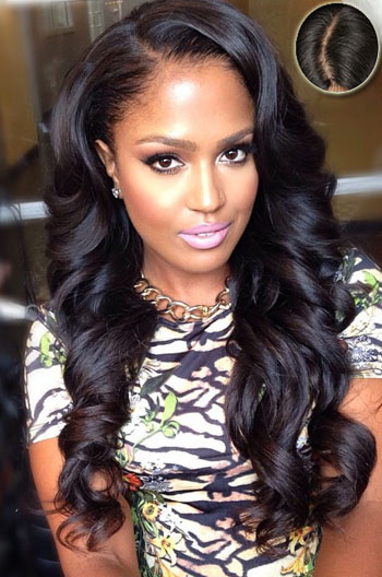 """Pretty Long Wavy Casual Hairstyles Lace Front Wigs With 4.5"""" Super Deep C Side Part{Custom Wig Production Time 10-15 working days}"""
