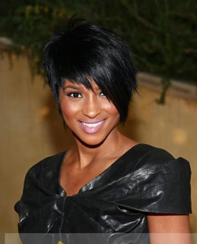 ... Silk Top Short Black Lace Front High Heated Wigs for Black Women