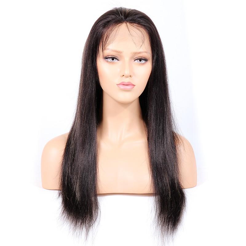 #1B/27 Highlight Color Glueless Full Lace Wigs Indian Virgin Hair Light Yaki