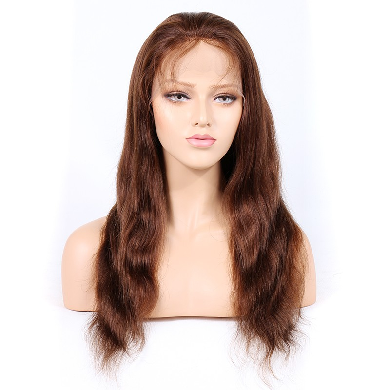 #4/30 Highlight Color Lace Front Wigs Indian Remy Hair Natural Straight