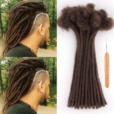 0.6cm Thickness Permanent Dread Extensions Human Hair Dreadlocks 20 Locs #30